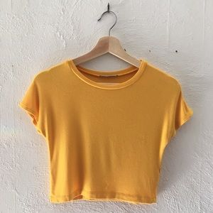 Zara Trafaluc Yellow Crop Top